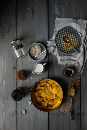 Kürbiseis mit Malzbier-Karamell und Meersalz