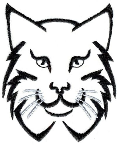 Lynx Outline Embroidery Design In 2019