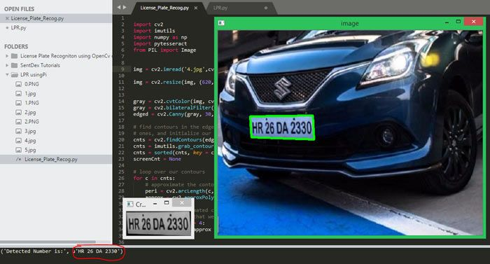 Raspberry Pi Based OpenCV License Plate Recognition Project