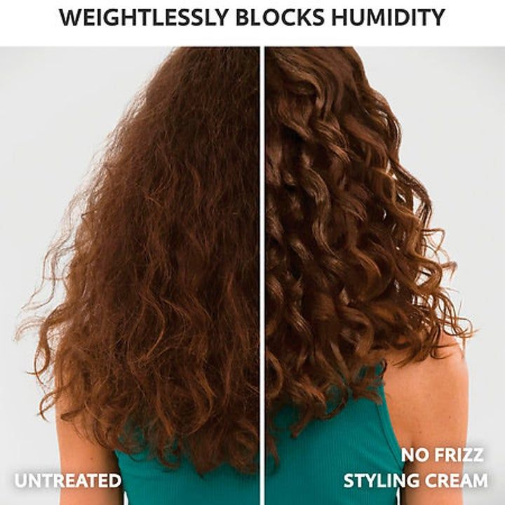 Smooth Your Wavvy Or Curly Hair Without Sacrificing Volume Thanks To Living Proof S No Frizz Nourishing Styling Cream In 2020 Dry Frizzy Hair Frizzy Hair Tips Frizzy Short Hair