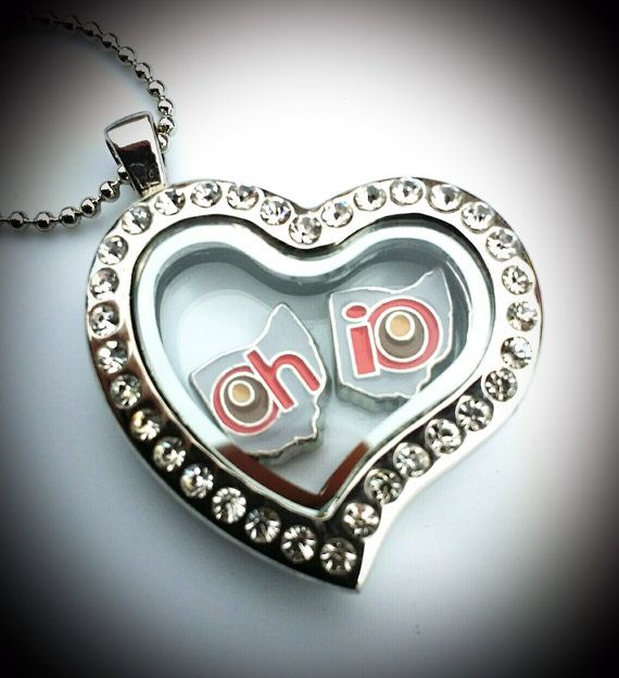 Ohio State University Living Locket Floating Charm Set State of Oh-io Officially Licensed, $10.00