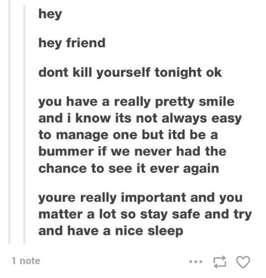 I post a lot of depressing stuff so ya know I thought I should post some more positive things