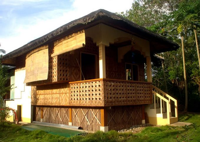 Bamboo house style philippines time