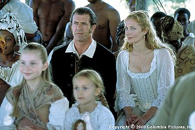 "Mel Gibson with Joely Richardson in ""The Patriot"""