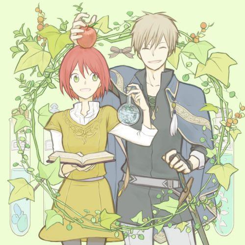 anime, apple, and manga image