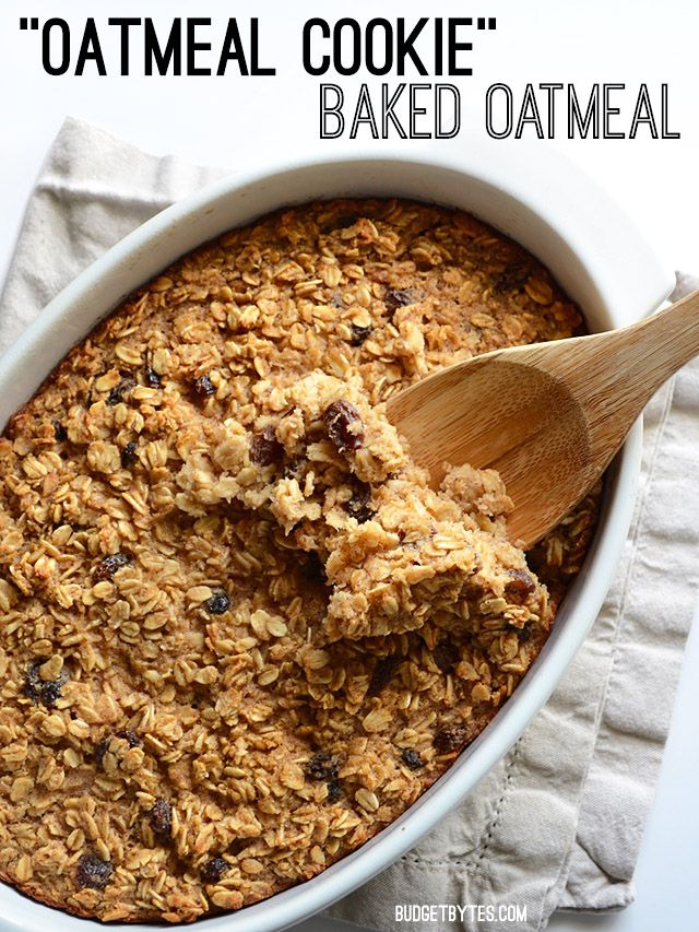 This freezable Oatmeal Cookie Baked Oatmeal tastes like an oatmeal cookie's older, more healthful sibling. Bake it on Sunday night and eat well all week.
