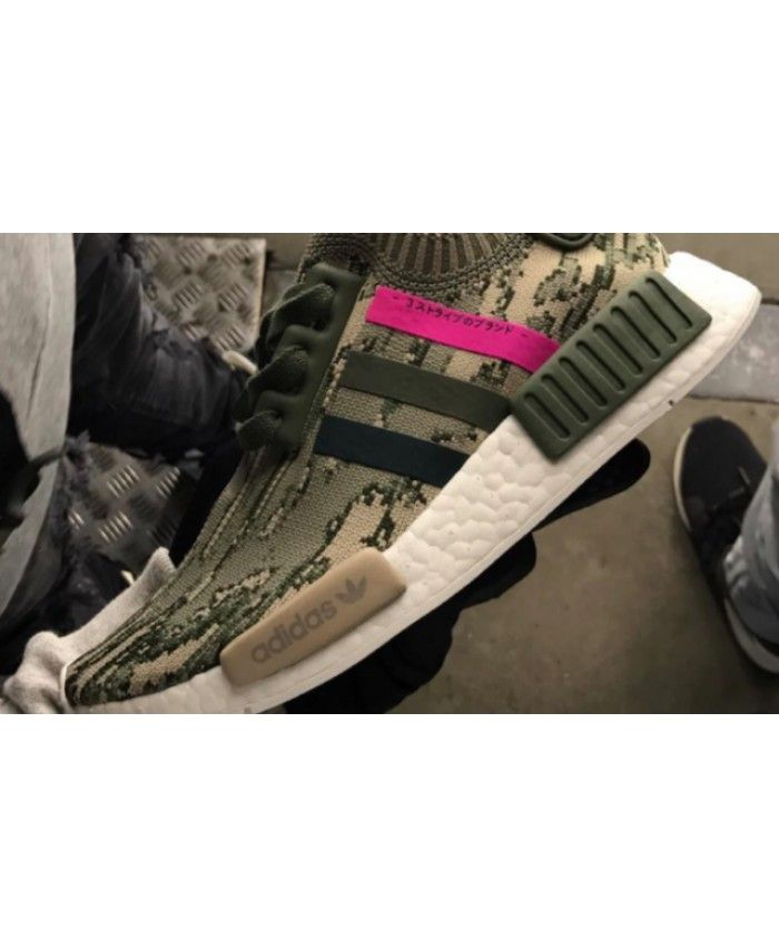 13efdf782 Cheap Adidas NMD R1 Primeknit Olive And Hot Pink