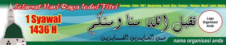 #09-Banner Spanduk Iedul Fitri 5mx1m Vector CDR JPG High Resolution - Masbadar 1 Syawal 1436 H - 2015