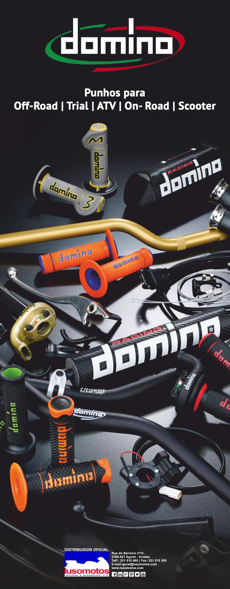 Punhos para ATV, Trial, Off-Road, On-Road e Scooter.  #domino #punhos #lusomotos