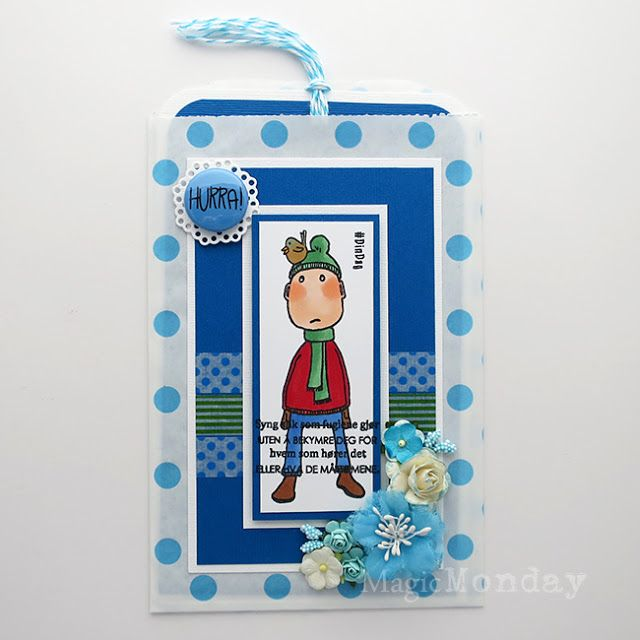 AnMa - Blog - Stamps from MagicMonday, card created by Gry.  Stempel / Stamps: http://www.anma.no