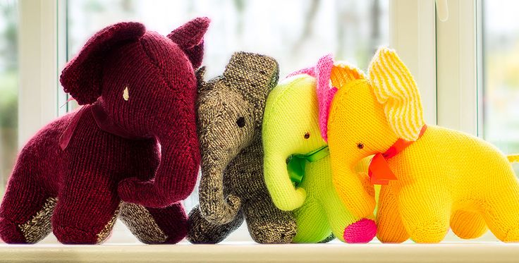 Knitting Patterns Jungle Animals : Jungle Animals to Knit   Elephants   20 free patterns   Grandmothers Pat...
