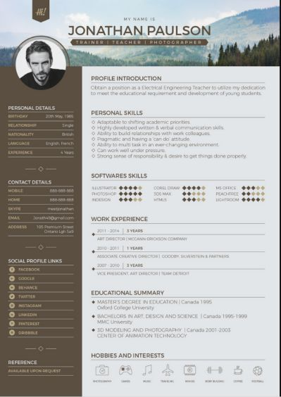 Typographic Resume Templates 7