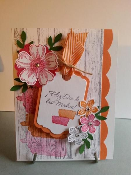 Stampin' Up!   Flower Shop, pansy punch, hardwood, Happy Watercoor, Petite Petals