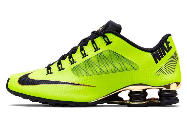 Green and Yellow Nike Shox