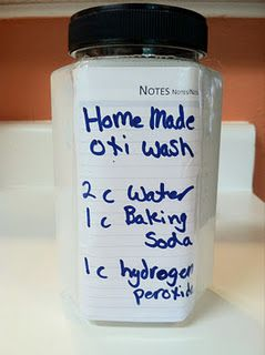 Homemade Oxiclean. When you add the peroxide it is the most potent, so it would be wise to make just before you use it!