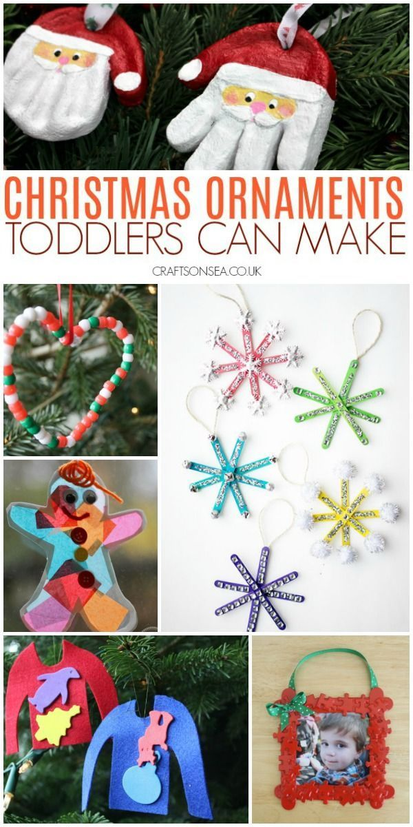 Easy Christmas Crafts For Toddlers Kids Christmas Ornaments Fun Christmas Crafts Christmas Crafts For Toddlers