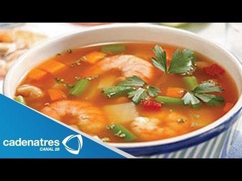 ▶ Receta para preparar caldo de camarón. Receta de caldo / Recetas fáciles - YouTube