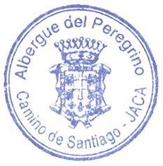 Sello Albergue Peregrinos Jaca.