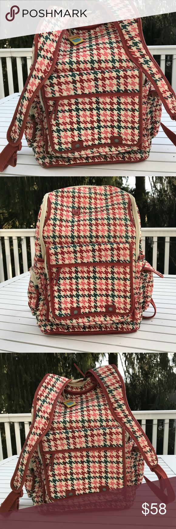 Burton backpack NWT Burton houndstooth print backpack new condition! Never worn/used...great buy!! Burton Bags Backpacks