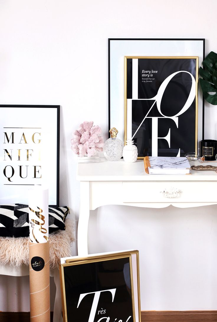 Alina Rose Makeup Blog: HITY TYGODNIA: wystrój domu, Złote Plakaty, mineralna paleta cieni Elegantissimi, Odylique i jeden kit.