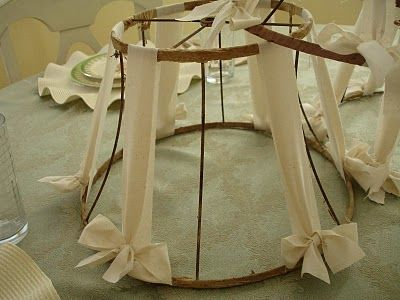 Best 25 lamp shade frame ideas on pinterest old lamp shades diy vintage lampshade frame redo muslin strips wrapped around salvaged lampshades easy tutorial the faded cottage greentooth Choice Image