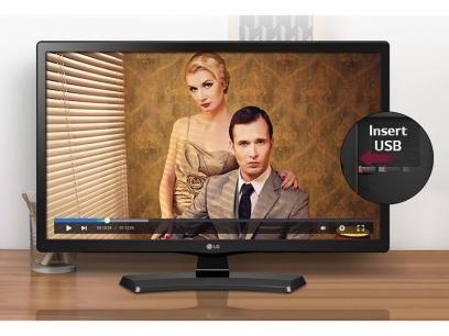 """Monitor TV LED 23,6"""" LG 24MT48DF-PS - Conversor integrado 1 HDMI 1 USB com as melhores condições você encontra no Magazine Maniacomvc. Confira!"""