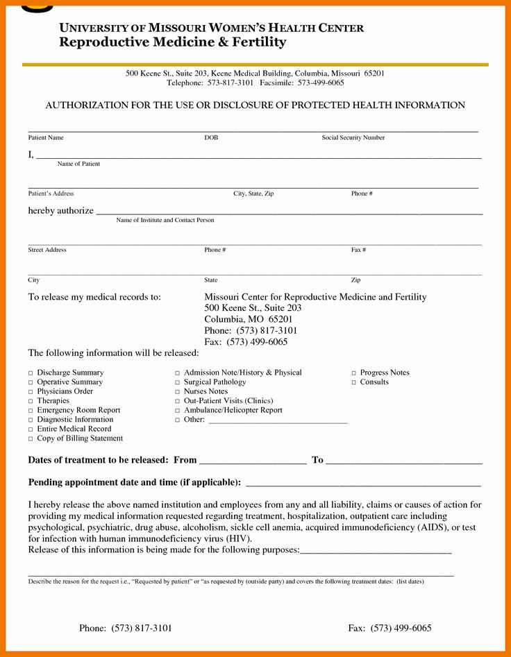 Emergency Room Release form Awesome 7 8 Emergency Room