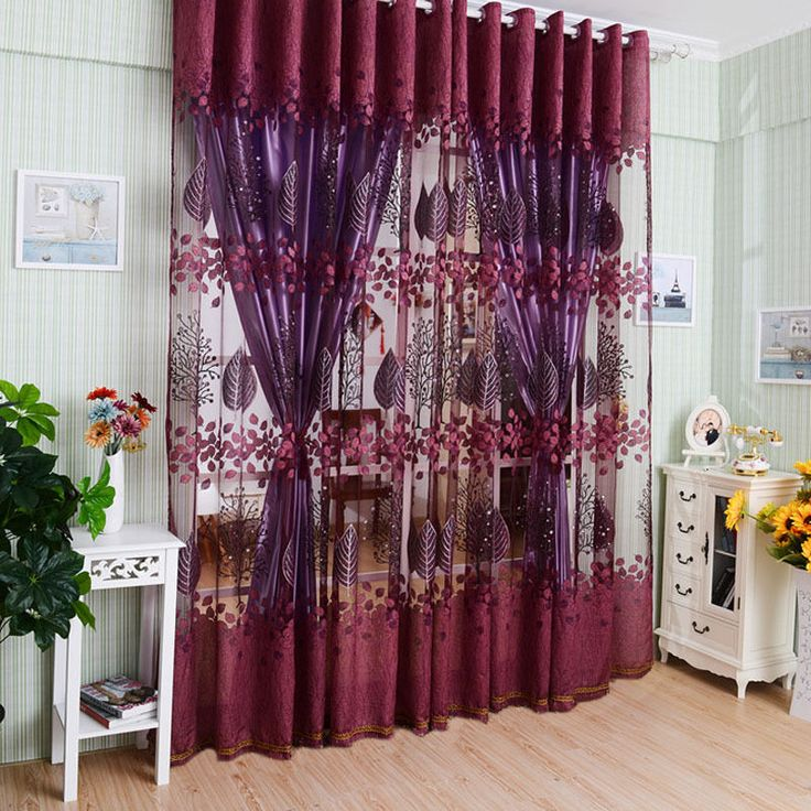 modern valances floral tulle voile door window colors curtain drape panel sheer - Valances For Living Room