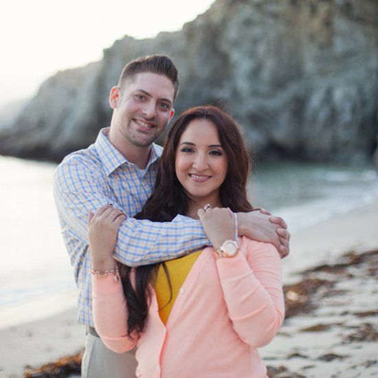 An intimate autumn engagement at Gibson Beach in Point Lobos State Reserve by Laura Hernandez Photography.