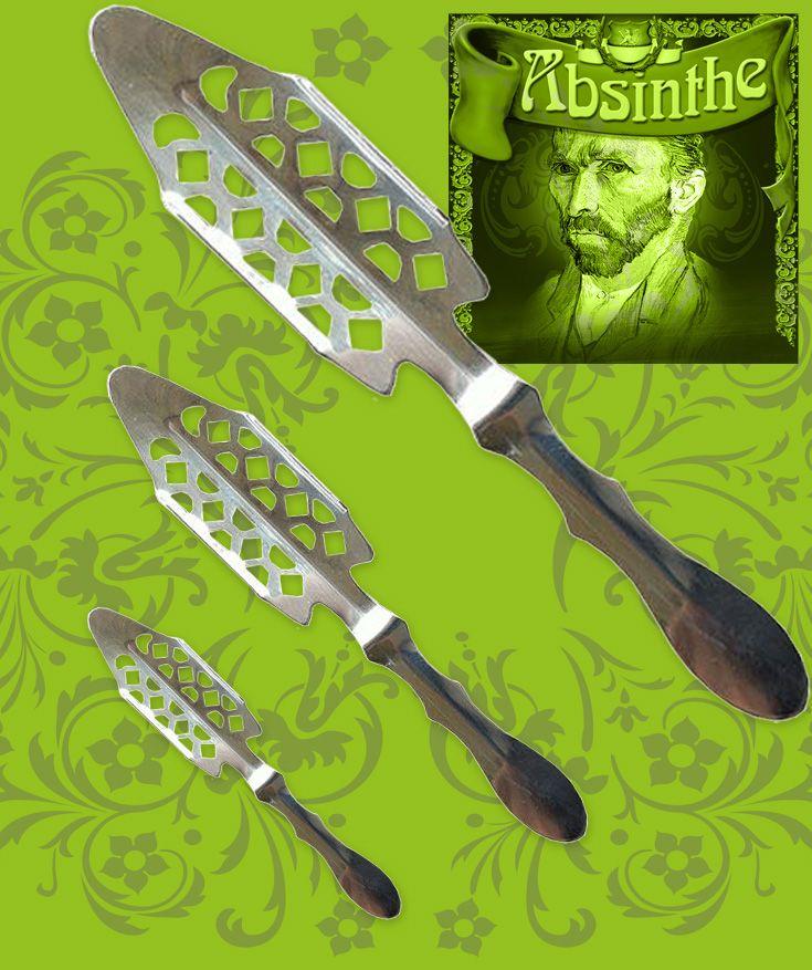 Bra absintsked, av rostfritt stål