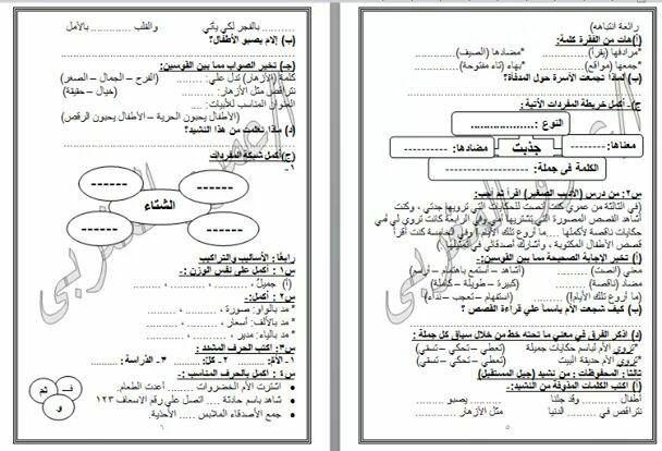نماذج امتحانات لغة عربيه للصف الثالث الابتدائي بعد التعديلات الوزارية نظام ٢٠١٨ Bullet Journal Topics Journal