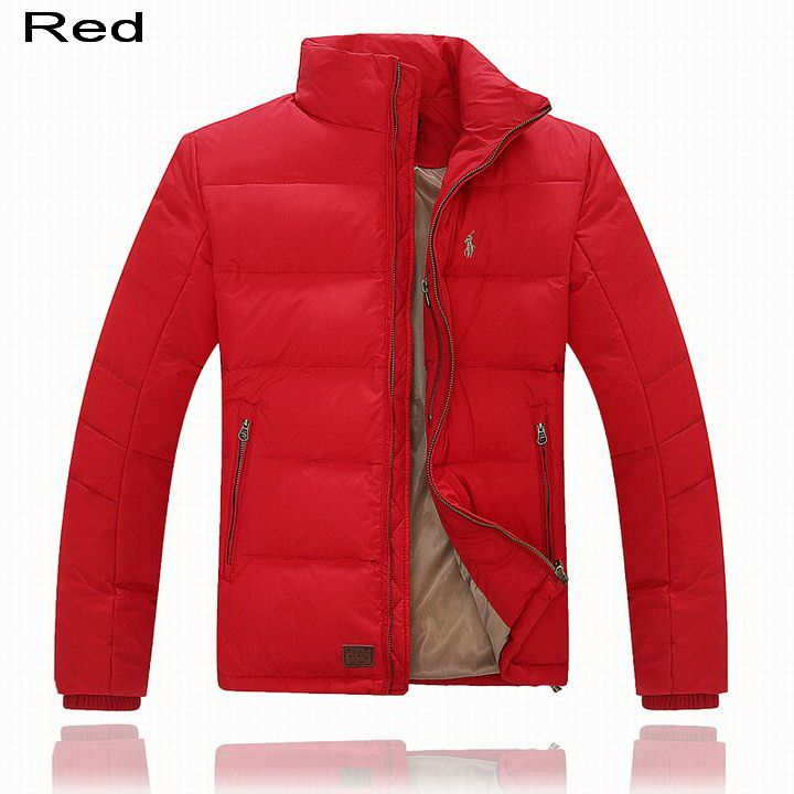 Polo Ralph Lauren Men Full-Zip Pony Padded Down Jacket Red
