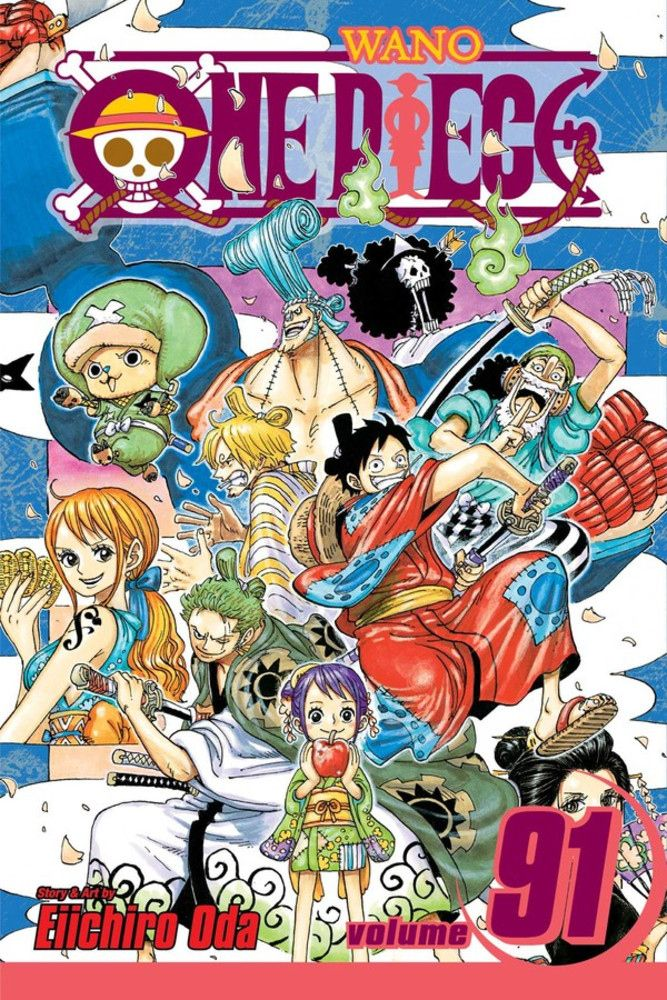 The Straw Hats Head For A New Land Of Adventure The Kingdom Of Wano But Awaiting Them There Are Kaido S One Piece Comic One Piece Anime One Piece Manga Cover