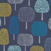 Laminate cotton - tree navy