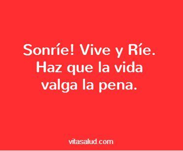 Sonríe, que ya es viernes!!! Más frases en http://www.vitasalud.com/frase-del-dia/