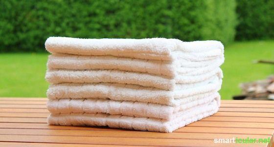 Mit diesen Falttechniken sehen deine Handtücher zu Hause genauso schön aus wie im Hotel!