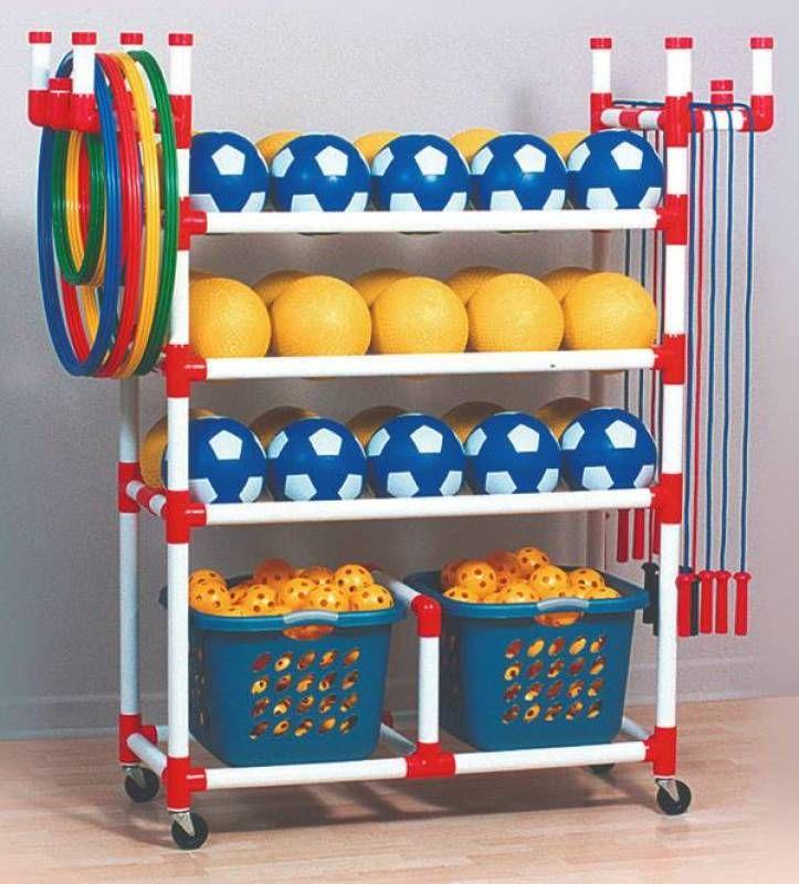 Duracart Playground Cart Standard - 2 Baskets - Baskets 1 1/2 x 17 x 12 - Cart 59 1/2 x 19 x 63 - CLASSROOM DIRECT