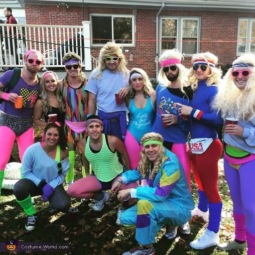 Toni: Me and my friends all got together and dressed up as 80's workout people!.