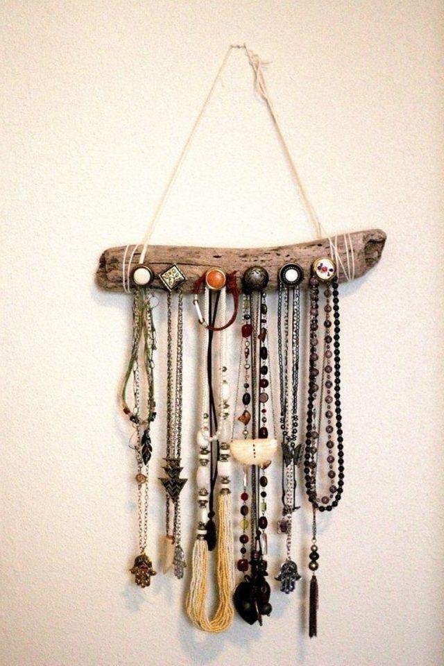30 Creative The Most Fancy Hanger Ideas For Your Jewelry Storage Jewelry Organizer Wall Jewellery Storage Driftwood Jewelry