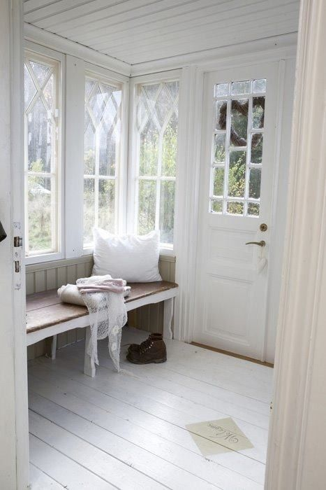 LOVE the windows and the windows in the door!!!  lovely mud room- not practical, but beautiful
