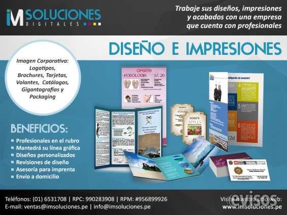Diseño Gráfico, impresiones y acabados Diseño y elaboración de: Logotipos, Brochures, Tarjetas Personales, Hojas membretadas, Volantes, ... http://lima-city.evisos.com.pe/diseno-grafico-impresiones-y-acabados-id-625686