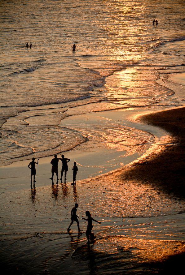 ~Sunset on a Beach~