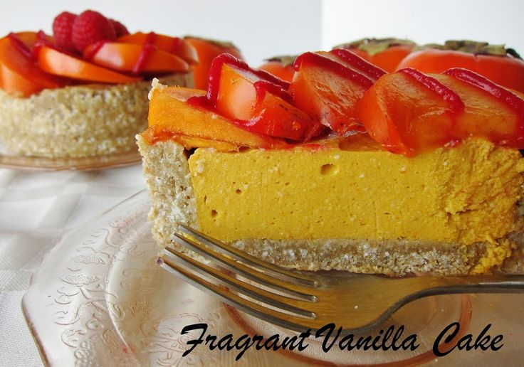 Raw Persimmon Tartlettes | Fragrant Vanilla Cake