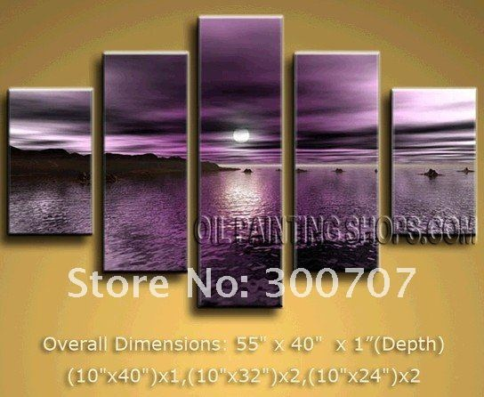 Beautiful purple sunset wall art