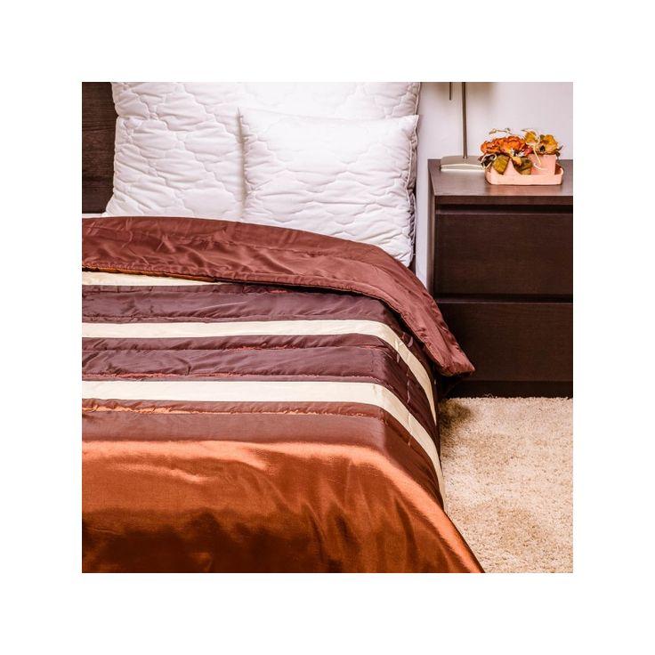 ELEGÁNS TAFT csokoládé ágytakaró 235x250 cm, Díszpárna.com Webáruház