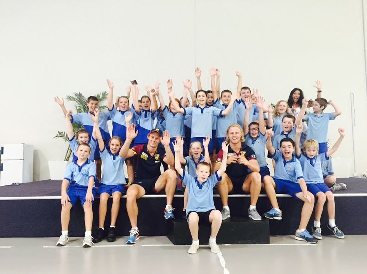 #CommunityCamp with the Brisbane Lions - second stop 58 schools across the Coast!