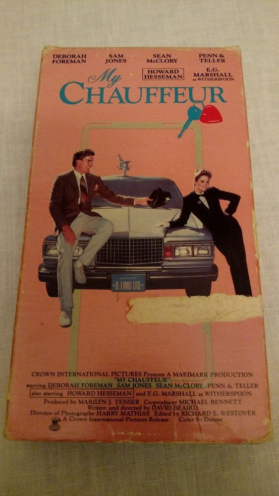 My Chauffeur VHS with Howard Hesseman Deborah Foreman Sam Jones