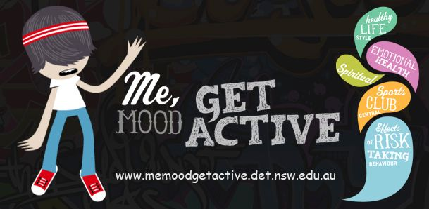 Me Mood Get Active is a resource that aims to support the theory side of the PDHPE curriculum, support the mental health and well-being of students and assist Learning and Support Teachers. Me Mood Get Active suggests a simple ideology of getting students active. This website contains links that deal with issues such as conflict resolution, healthy choices, positive relationships, job choices, drugs, partying and cyberbullying.
