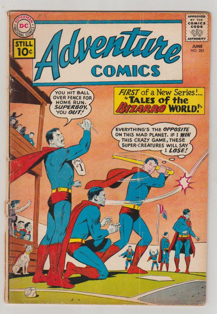 Adventure Comics; Vol 1, 285, Silver Age Comic Book.  VG-. June 1961.  DC Comics #adventurecomics #talesofbizzaroworld #jerrysiegel #comicsforsale