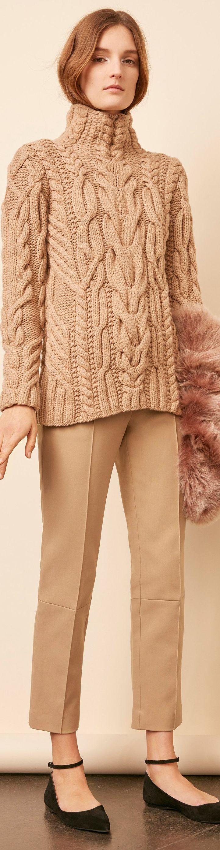 Nellie Partow Fall 2016 // Nude Sweater // Knit details Качественное фото. Можно попробовать связать по картинке.
